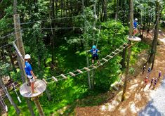 High Ropes Course in the Pocono Mountains