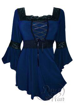 Dare To Wear Victorian Gothic Renaissance Corset Top Midnight