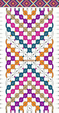 Normal Friendship Bracelet Pattern #2146 - BraceletBook.com