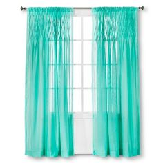 Xhilaration™ Pintuck Curtain Panel - Sunbleached Turq