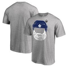Toronto Maple Leafs Fanatics Branded 2017 NHL Stanley Cup Playoffs Participant Full Beard Big & Tall T-Shirt - Heather Gray