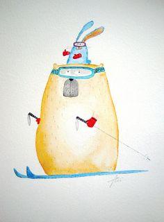 Bernardovy nové lyže / Zboží prodejce by kristina Snoopy, Fictional Characters, Art, Art Background, Kunst, Performing Arts, Fantasy Characters, Art Education Resources, Artworks