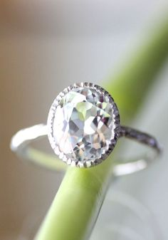 White Topaz Sterling Silver Ring Available from: https://www.etsy.com/listing/124328025/white-topaz-sterling-silver-ring