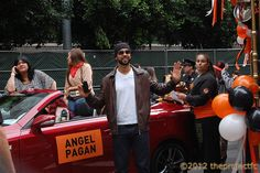 Angel Pagan will continue to don the black and orange of the Giants! The pictured 2013 Lexus IS 350C F SPORT that he drove in for the parade is currently for sale in our showroom!