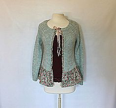 Women's Sweater  Upcycled Clothing  French by AmadiSloanDesigns, $41.00