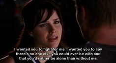 "Brooke Davis: ""I wanted you to fight for me..."" when she finds Rachel in the back of Lucas' car."