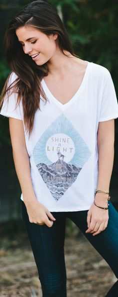 Shine a light on autism! Raise awareness & support with this cute graphic tee.