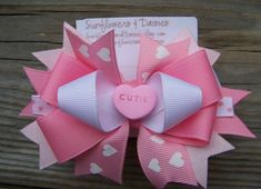 cute girly bow for hair or packages, etc. by sheri
