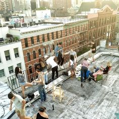 have a party on rooftop