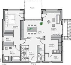 first floor of a 3/4 bedroom 2 bath house...compact home, website is in german