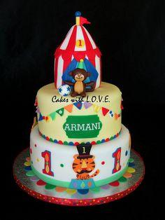 Fisher Price Circus First Birthday Cake (Armani)