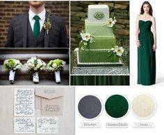 hunter green and gray wedding inspiration tammy russell