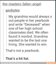 I thank that grandma used to watch a lot of death note...