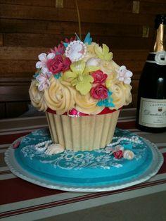 Super cupcake lleno de flores... victoriano!