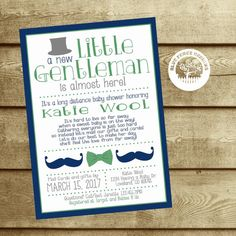 Long distance baby shower invitation i wrote this cute little poem long distance baby shower invitation baby shower by mail across the miles shower little gentleman little man boy mustache bow tie filmwisefo