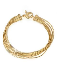 Take a look at this Gold Seven-Strand Snake Chain Bracelet today!