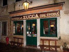 Osteria La Zucca - Venice - Delicious vegetarian cusine with the promise of unforgettable chocolate desserts.  Santa Croce District