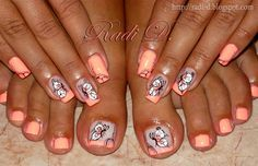 Flip Flop Butterflies by RadiD - Nail Art Gallery nailartgallery.nailsmag.com by Nails Magazine www.nailsmag.com #nailart