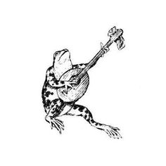 FROG and BANJO Music unmounted rubber stamp by sweetgrasstamps, $3.25