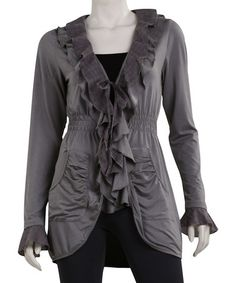 Take a look at this Gray Kaimee Cardigan - Women by Yest on #zulily today!