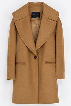 Fresh Coats: 10 Winter Coat Trends Under $300: Winter White. Zara camel coat, $179, zara.com