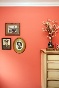 """That paint color!!!!! <3 <3 <3   Behr - """"Youthful Coral"""""""