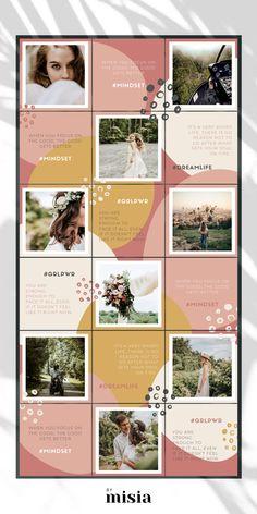 Instagram Design, Instagram Feed Theme Layout, Insta Layout, Instagram Layouts, Feeds Instagram, Instagram Grid, Instagram Posts, Social Media Template, Social Media Design