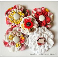 Fabric Flower Craft Projects - The Cottage Market