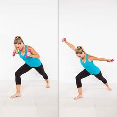 Pilates meets boxing with this multi-muscle upper-body move that'll tone up your shoulders, biceps, and triceps, along with your abs and legs.