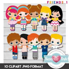 KIDS Friends Love Dolls Kawaii