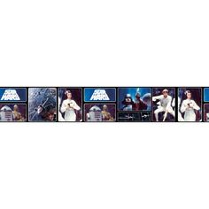 Star Wars Retro Self Adhesive Wallpaper Border 5m
