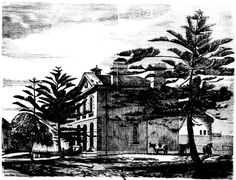 The Residence of the Governor of the Goal (Within the Walls) Darlinghurst Prison 1866
