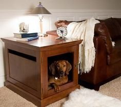 Dog House Table - Molly would love this!
