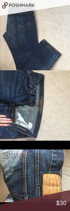 AE jeans 👖 Excellent condition (new)  34x30  Original straighten American Eagle Outfitters Jeans Straight