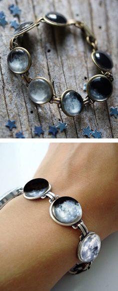 Moon phase bracelet.