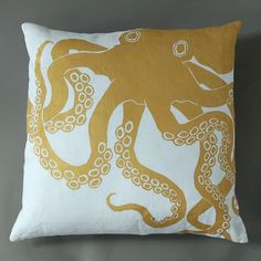 Another sea creature pillow.