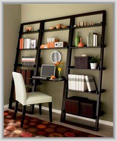 Portrayal of Leaning Ladder Bookcase