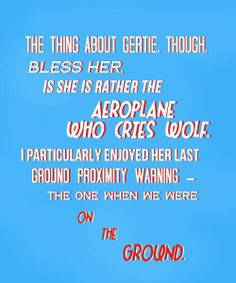 GERTI, the aeroplane who cries wolf. Roger Allam, Elementary My Dear Watson, Cabin Pressure, Comedy Show, Bbc Radio, Cool Names, Yellow Car, Flight Deck, Fandoms