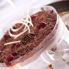Black forest ice cake made by sale sucre in Cairo .