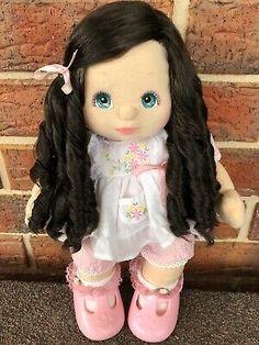 My Child Doll Brunette Side Part | eBay Vintage Cabbage Patch Dolls, Cabbage Patch Kids Dolls, Child Doll, Boy Doll, Bright Blue Eyes, African American Girl, Brunette Hair, Princess Zelda, Children
