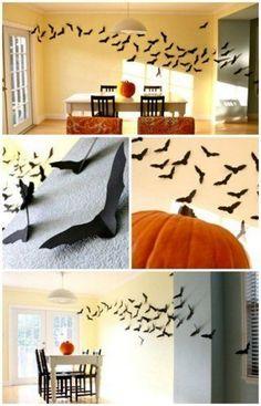 Bats made of cardboard. // Murciélagos hechos con cartulina. #Halloween #Decorations
