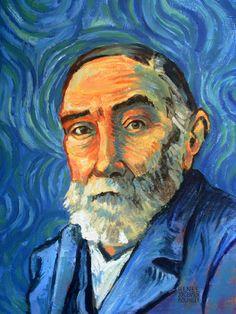 Painting of Frege by Van Gogh Famous Portrait Artists, Famous Portraits, Famous Artists, Van Gogh, Famous Philosophers, Picture Captions, Art Google, Framed Art Prints, Art Photography