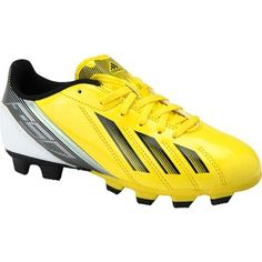 SALE - Kids Adidas F5 Soccer Cleats Yellow Synthetic - Was $40.00 - SAVE $5.00. BUY Now - ONLY $34.99