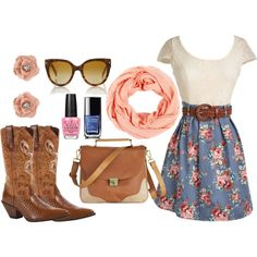 Feminine Floral, created by flirtwithdurango on Polyvore