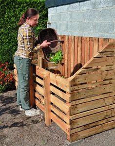 Un silo à compost en palettes récupérées - Diy Garten