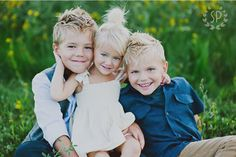 siblings » Simplicity Photography (I hope to have 3 beautiful blondies like this someday)
