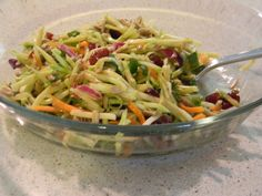 Broccoli Slaw Salad I am super obsessed with this salad right now.So fresh and delicious!!