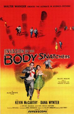 Invasion of the Body Snatchers (1956)  Probably one of the best sci fi movies of all time about being invaded from outerspace!