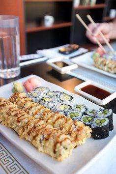 Deep Fried Sushi Rolls .. Yumm