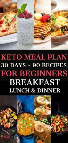 Keto Diet Meal Plan Recipes #KetogenicDietBreakfast Ketogenic Diet Meal Plan, Ketogenic Diet For Beginners, Diet Plan Menu, Keto Meal Plan, Ketogenic Recipes, Diet Recipes, Healthy Recipes, Crockpot Recipes, Food Plan